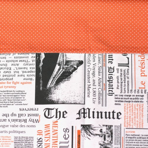 Sling orange newspaper